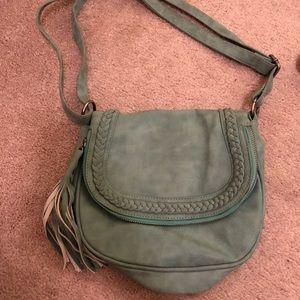Handbags - Good condition light turquoise saddle bag